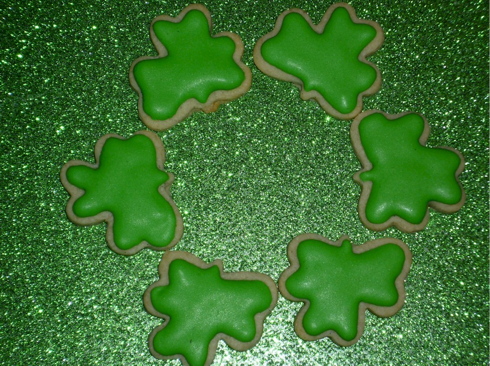 Mini Decorated Irish/Celtic Shamrock Sugar Cookies Order of 5 dozen