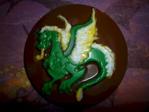 Chocolate Fire-breathing Dragon Lollipop Set of 3